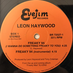 LEON HAYWOOD:FREAKY '94(LABEL SIDE-B)