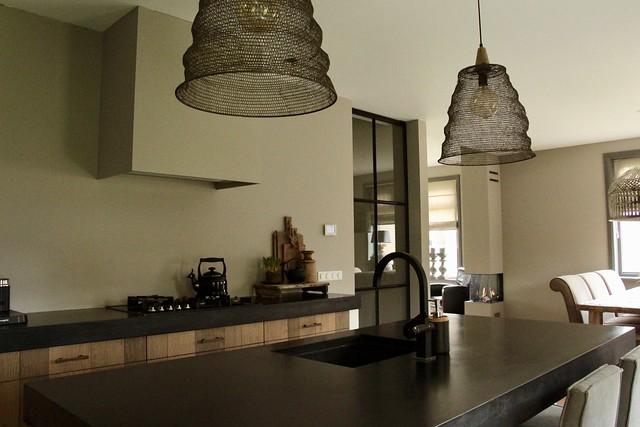 Lampen boven kookeiland landelijk