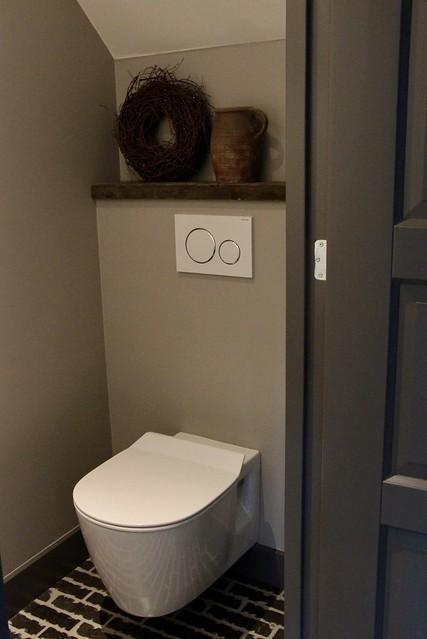 Toilet betoncire waaltjesvloer