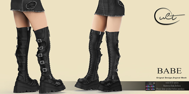 : CULT : BABE BOOTS with HUD