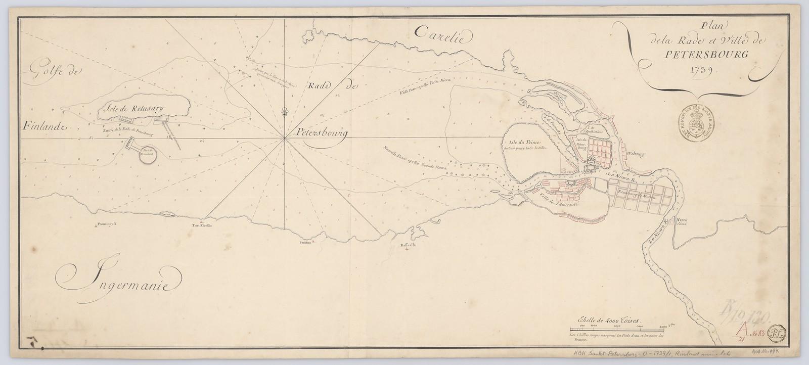 1739. План Петербурга и прилегающей территории