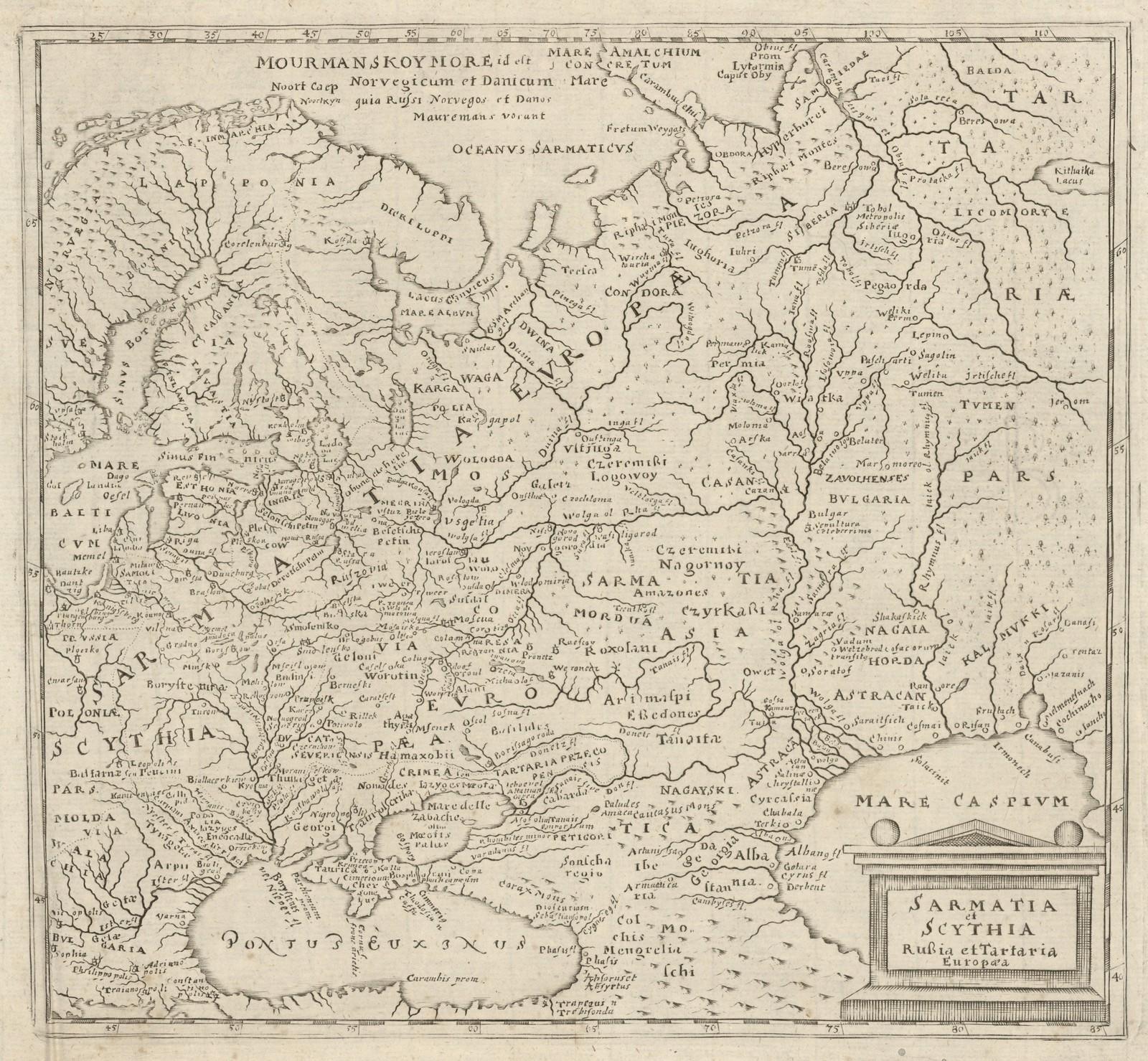 1620-1630. Сарматия и Русская Скифия и Европейская Тартария