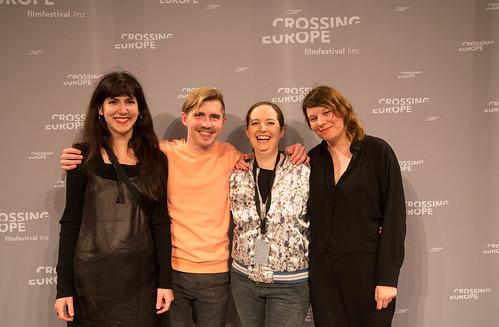 CE19 - Award Ceremony / Zorah Zellinger, Michael Zeindlinger, Sabine Gebetsroither, Katharina Riedler (Crossing Europe Team) / photo © Christoph Thorwartl / subtext.at
