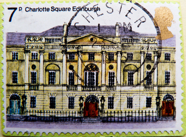 great stamp Great Britain 7p Taigh Bhòid, Bute Hoose, Bute House (Charlotte Square Edinburgh, Scotland; official residence of the First Minister of Scotland; Amtssitz Ministerpräsidentin von Schottland ) timbre UK United Kingdom stamps England selo sello
