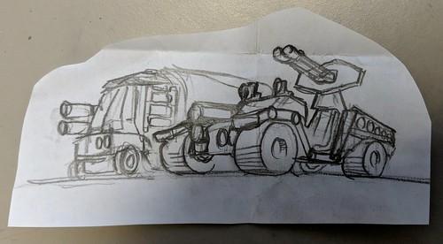 C500 trucks concept art | by Ninja_Bait