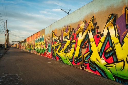 2019 st louis graffiti art flood wall