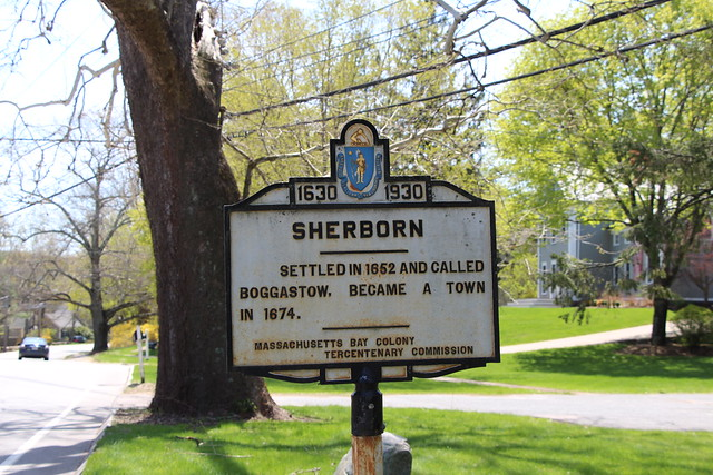 Massachusetts Bay Colony Tercentenary Commission Marker - Sherborn, MA