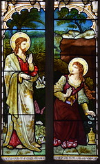 Mary Magdalene meets the Risen Christ in the garden (Ward & Hughes, 1880s)
