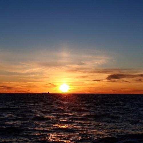 Fiumicino: tramonto in spiaggia