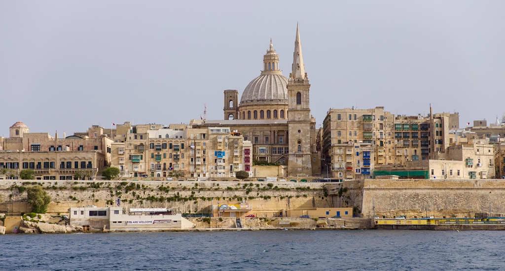 Skyline Valletta vanuit Sliema | Malta & Gozo
