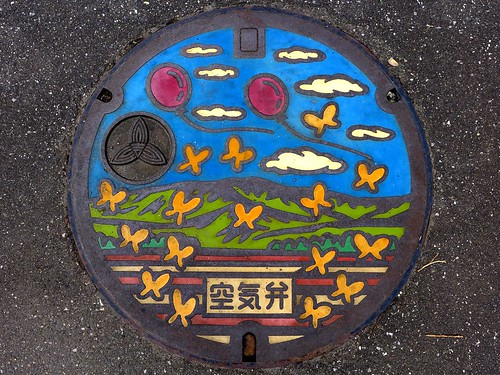 Yoshikawa Saitama, manhole cover 4 (埼玉県吉川市のマンホール4)