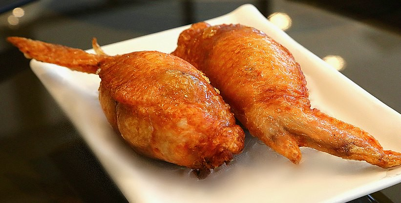 Fried Rice Stuffed Chicken Wings
