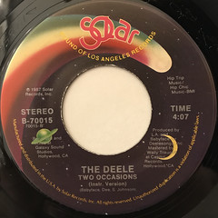 THE DEELE:TWO OCCASIONS(LABEL SIDE-B)