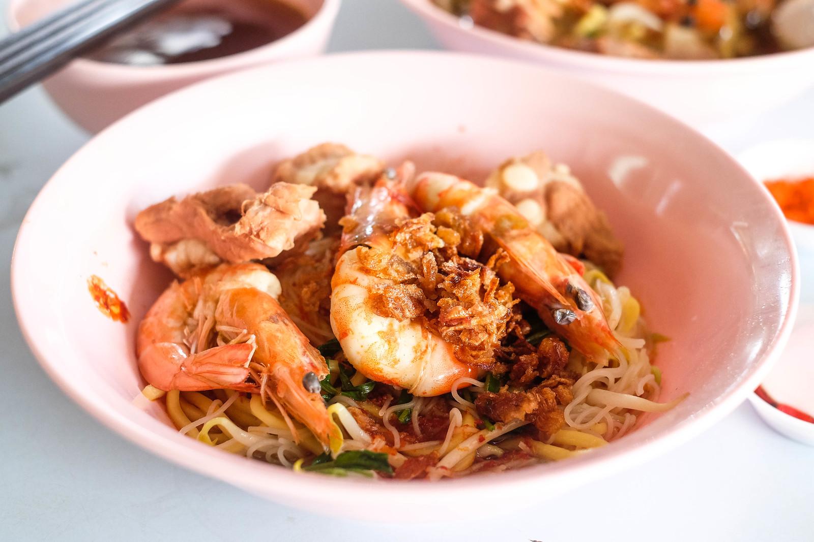 A bowl of Prawn Mee from Joo Chiat Prawn Mee