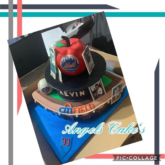 Citifield Stadium Cake by Nancy Arce of Angels Cake's