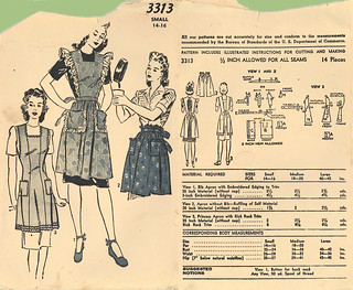 Advance 1943 3313 apron blue