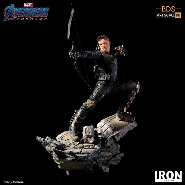 Iron Studios Battle Diorama 系列《復仇者聯盟:終局之戰》鷹眼 Hawkeye 1/10 比例決鬥場景雕像作品