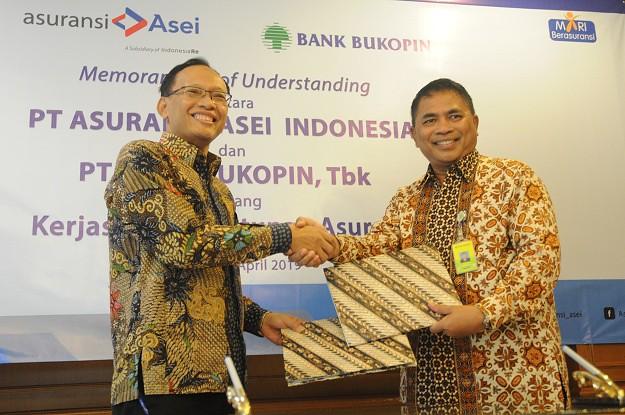 ASEI-Bank Bukopin Teken Kerjasama Penutupan Asuransi