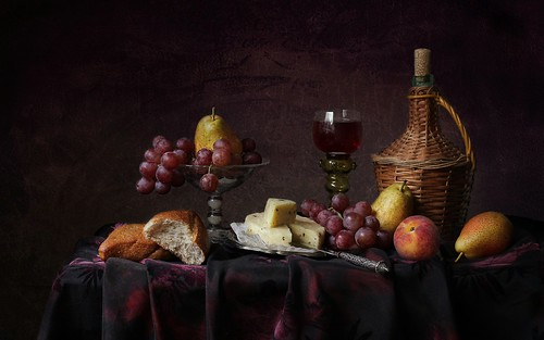 Still Life with Fruits and Cheese