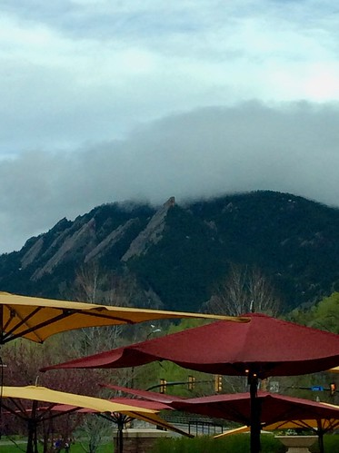 Cloud coming over the Flatirons