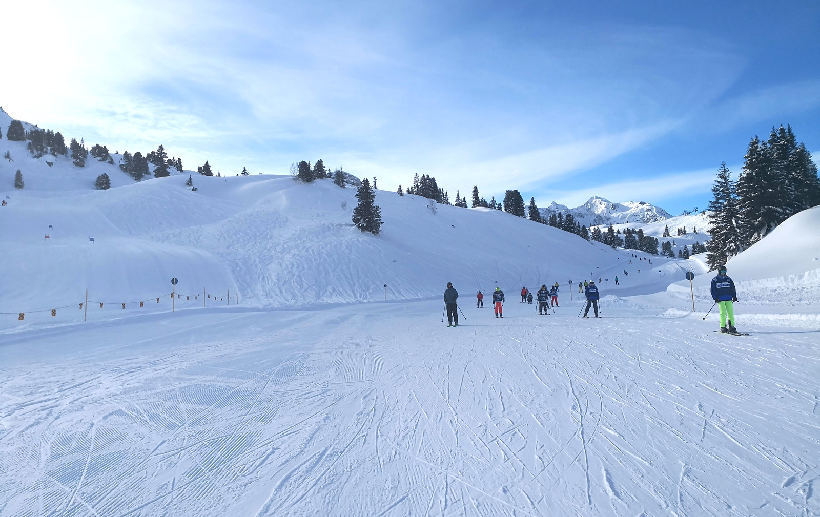 Gentle slopes to Salober