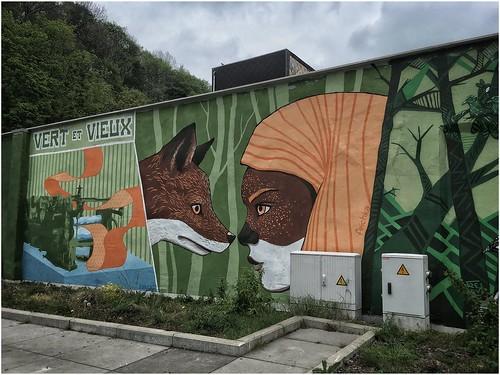Fresque « Dire nous » , Verviers, Belgique