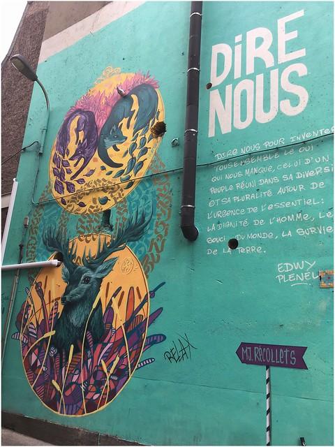Fresque « Dire nous », Verviers, Belgique