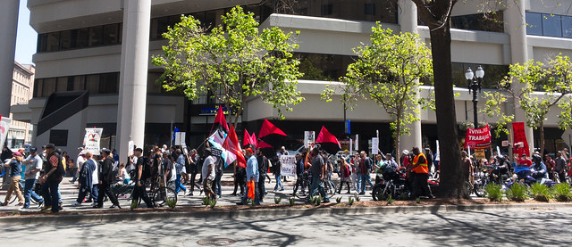 International Worker's Day protest