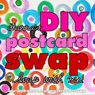 iHanna's DIY Postcard swap - sign up now