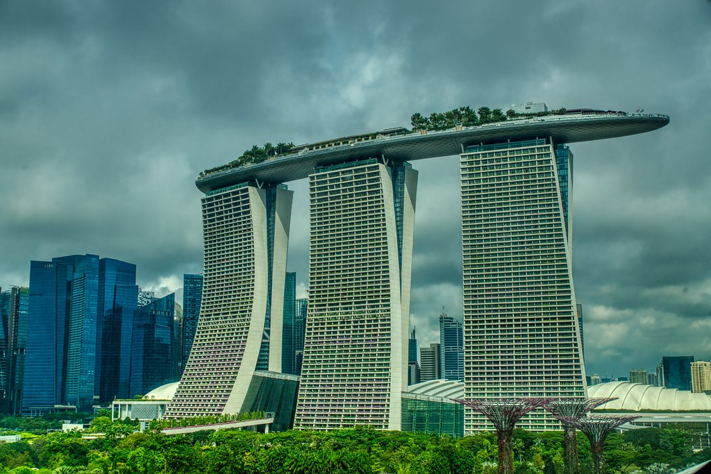 Marina Bay Sands Hotel with Gardens by the Bay in Singapore