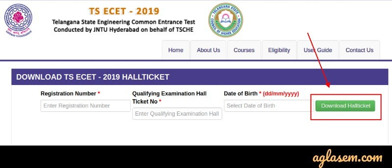 TS ECET 2019 Admit Card