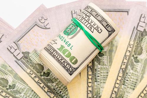 Background with dollar bills