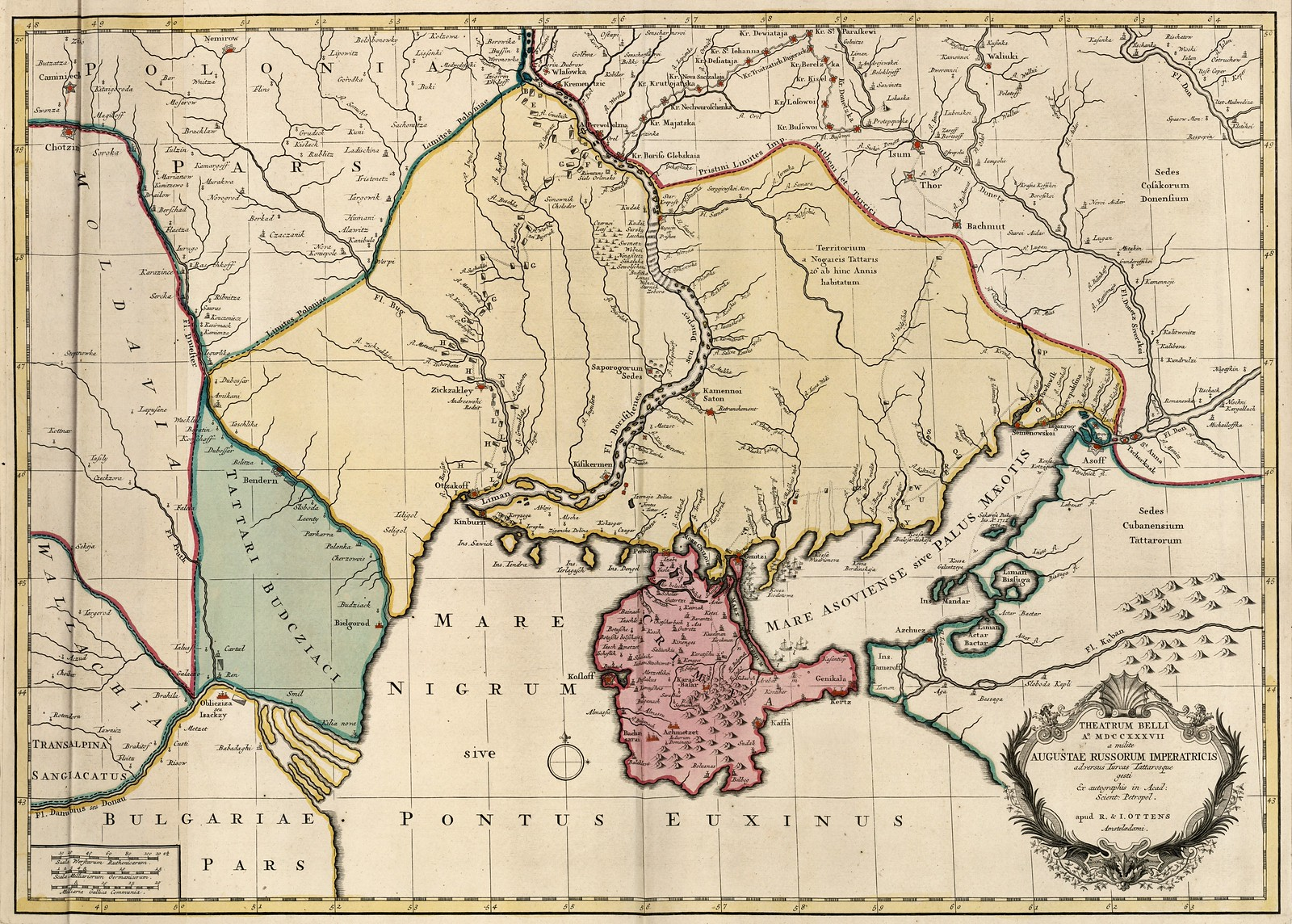 1735-1750. Карта Театра военных действий
