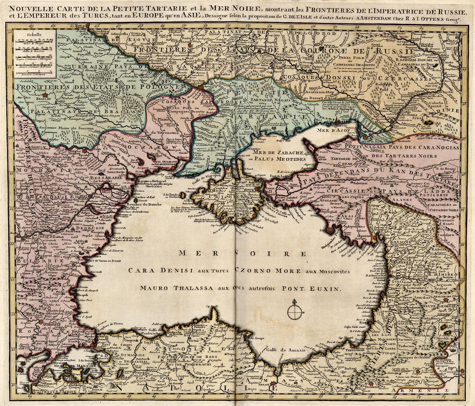 1720. Новая карта Малого Татарского и Черного моря
