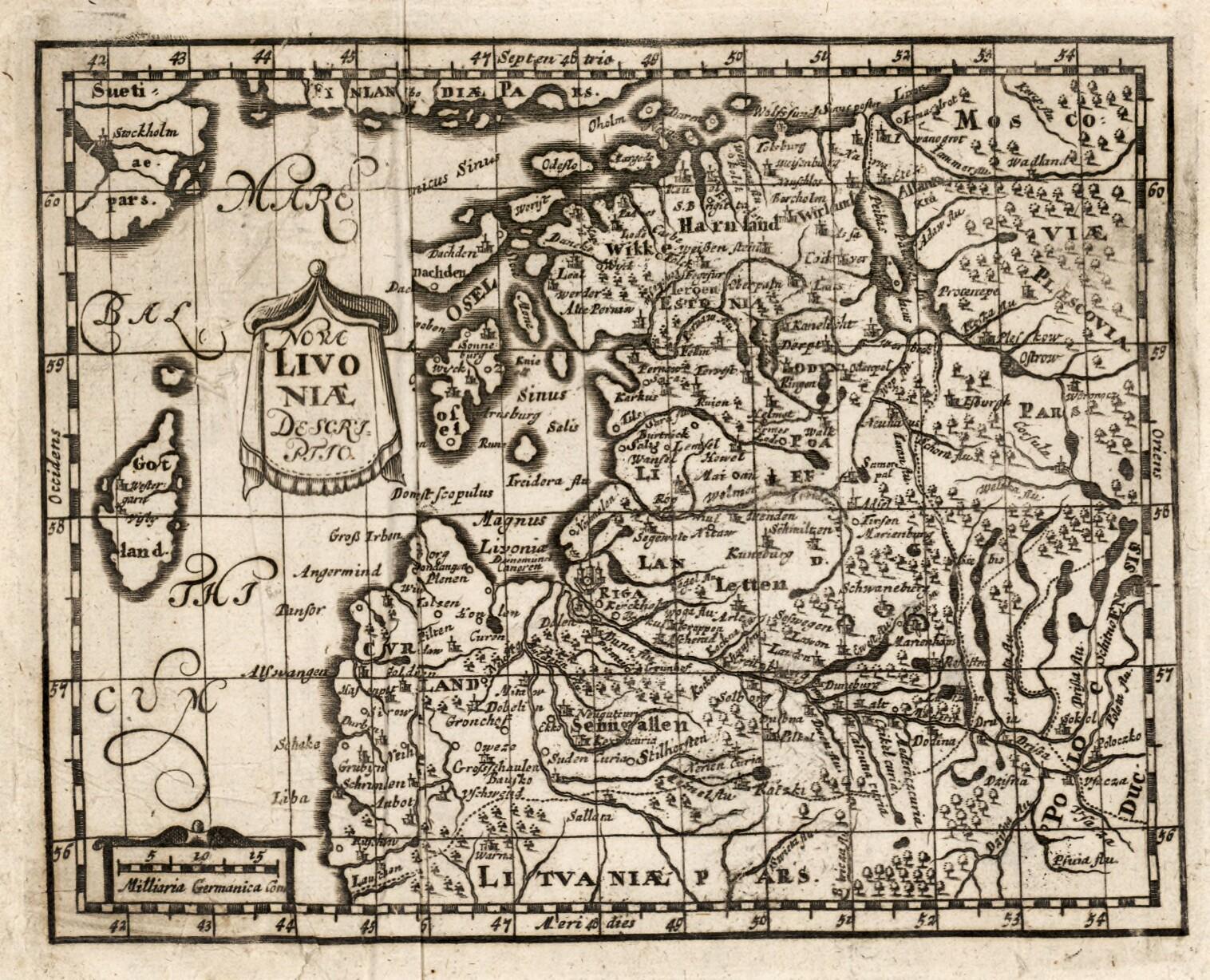 1650-1700. Новое точное описание Ливонии