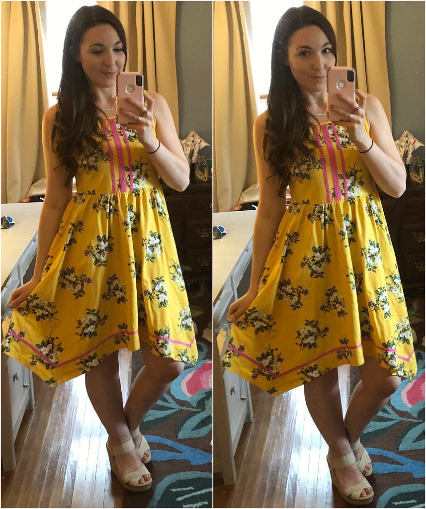 matilda jane tween yellow floral let's begin dress