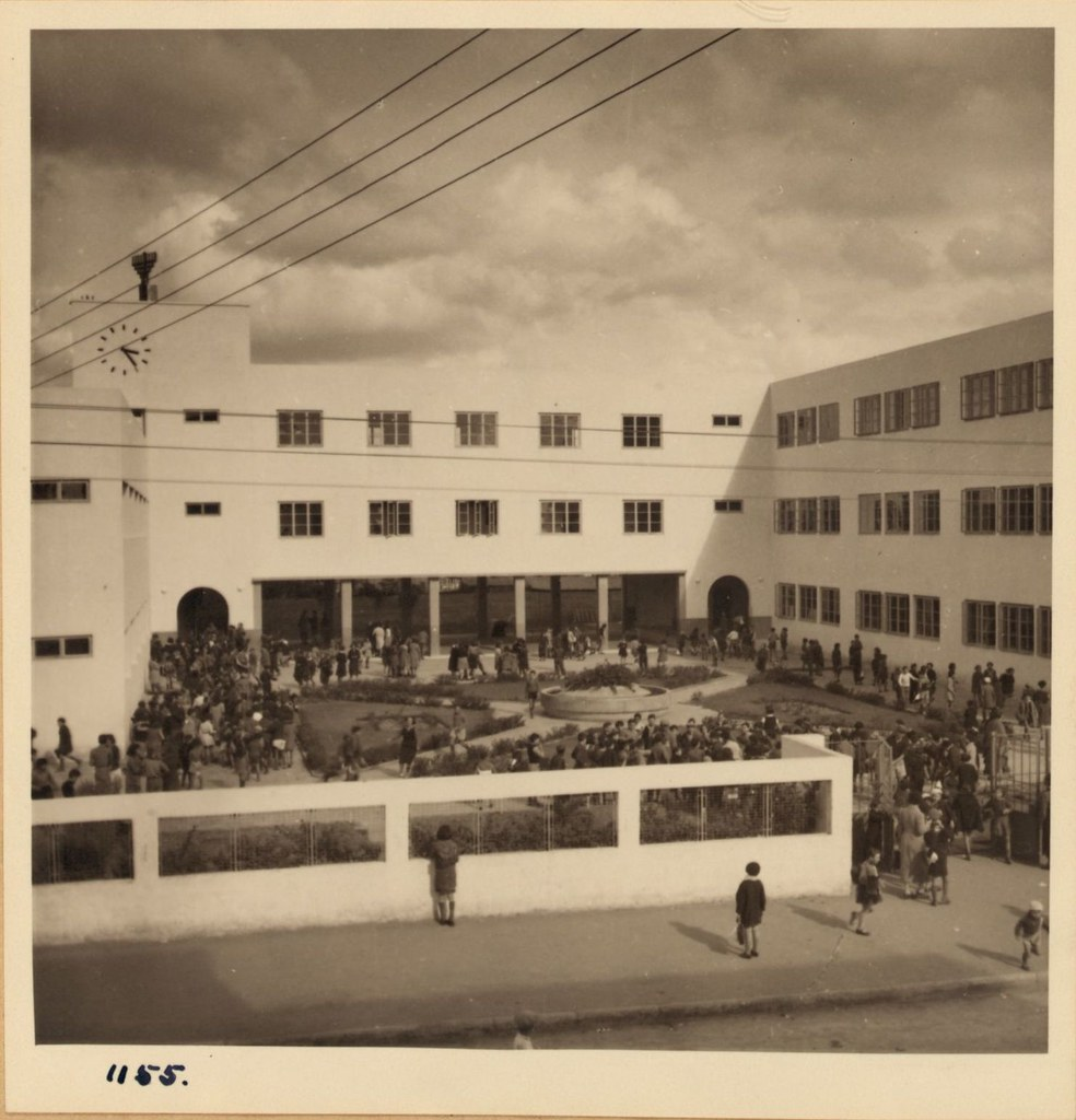 1155. Тель-Авив.  22 декабря. Школа им. Бялика. Полуденный перерыв