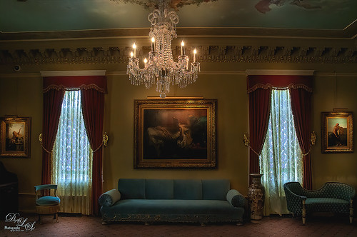 Image of historic room at Flagler College (old Ponce de Leon Hotel)