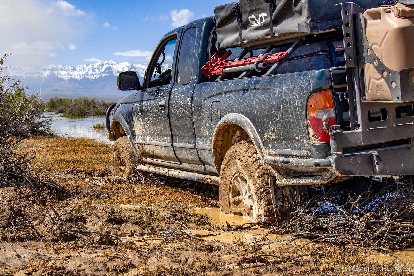 toyota tacoma stuck in mud
