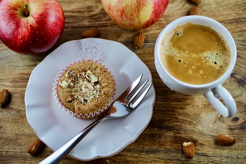 Low Carb Rezept einfach - Apfelmuffin