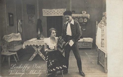 Ica (von) Lenkeffy and Mihály Várkonyi (Victor Varconi) in A csikós (1917)
