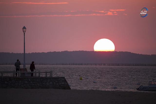 sunset arcachon