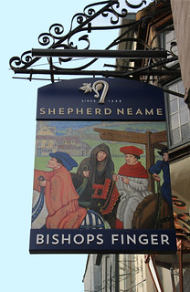English Pub Sign - Bishops Finger, Canterbury