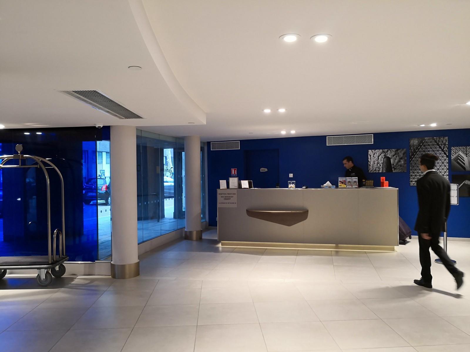 Concierge desk on the ground floor