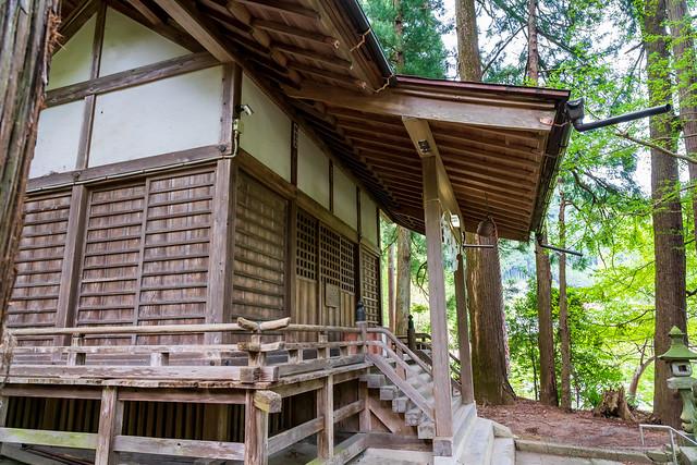 黙々下山・・・熊野神社着