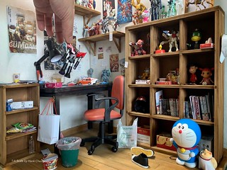 給玩具們一個新家~ 微縮大師鄭鴻展 Hank Cheng 製作! 1/6 比例【阿宅的房間場景組】Hobby Corner Diorama Set