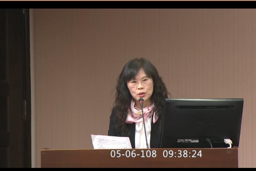 農委會企劃處副處長周妙芳說明水保政策