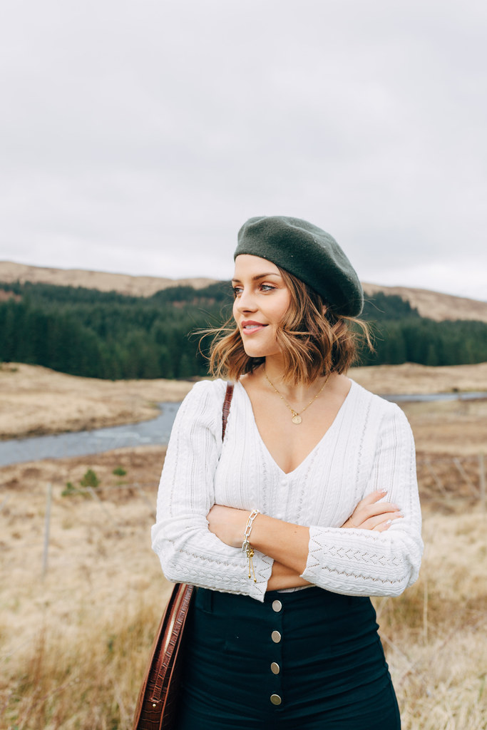 The Little Magpie Glencoe Scotland Fashion Shoot Mulberry Sandro Needle & Thread