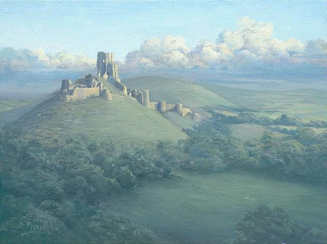 Corfe Castle far.