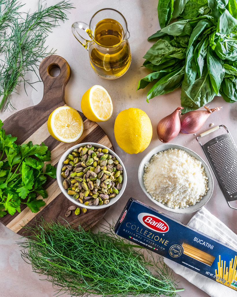 vibrant ingredients for a fresh spring pasta